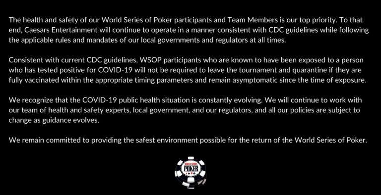 WSOP 2021 Chris Moneymaker因WSOP Rule 115條款憤怒不參賽?