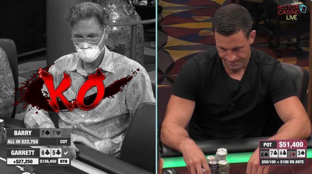 Hustler Casino Live 精彩手牌 Garrett粉碎了Barry的靈魂