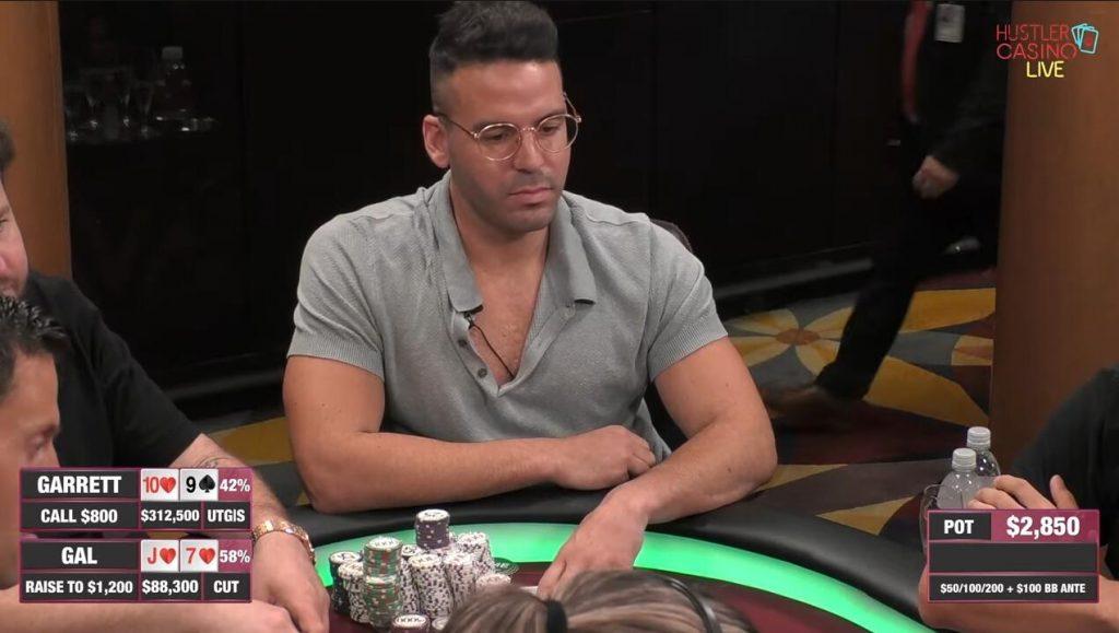 Hustler Casino Live精彩手牌Garrett對上Gal 兩人不斷的互相超車結果....