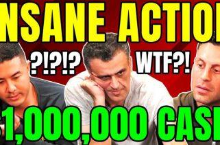 Hustler Casino Live 完全瘋狂的高額常規桌三手牌 桌上出現100萬美元!!!